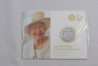 2016 Queen's 90th Birthday UK £20 Fine Silver Coin Display Card