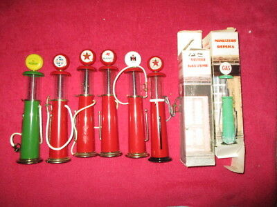 Roy's MFG  Visible Gas Pump lot of 6 1/20 Scale 7 1/2 SUPER NICE COND.  !!