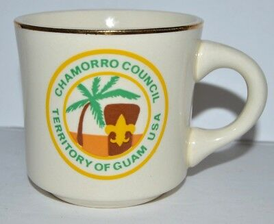 BSA VTG Coffee Cup Mug Boy Scouts Chamorro Council GUAM USA Scouting Troop Lead