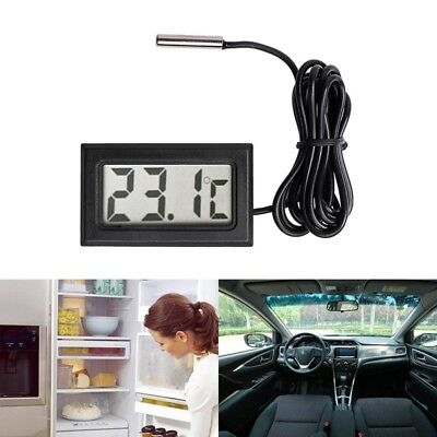 NEW Digital LCD Thermometer Temperature Gauge Probe Sensor -50°C TO +110°C F4J1