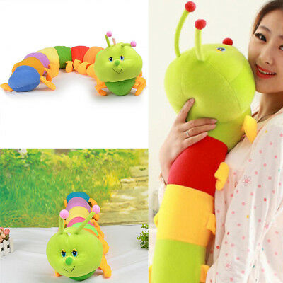 KD_ Colorful Inchworm Plush Toy Soft Caterpillar Cushions Child Baby Toy Doll