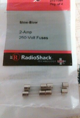 RadioShack 2 Amp 250 Volt Slow-Blow Fuses 5×20mm 2701064 *FREE SHIPPING*