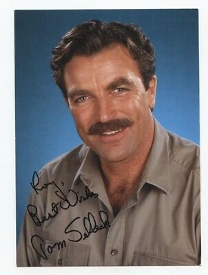 Signed Tom Selleck Photo