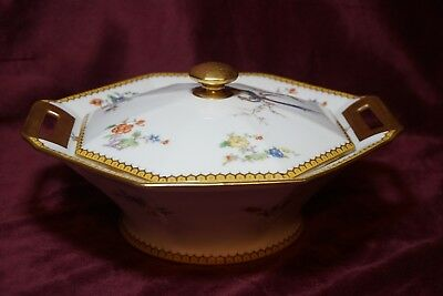 "RARE Haviland Limoges  "" Eden ""  Round Vegetable Covered Bowl  Dish 1922"