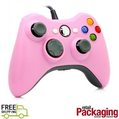 New USB Game Pad Controller For Microsoft Xbox 360 Console / PC Windows Pink