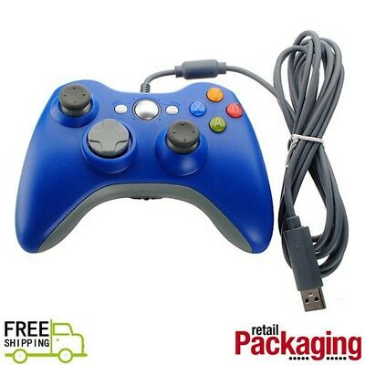 New USB Game Pad Controller For Microsoft Xbox 360 Console / PC Windows Blue