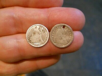 1841-O and 1872 Seated Liberty Half Dimes - FREE SHIPPING!!