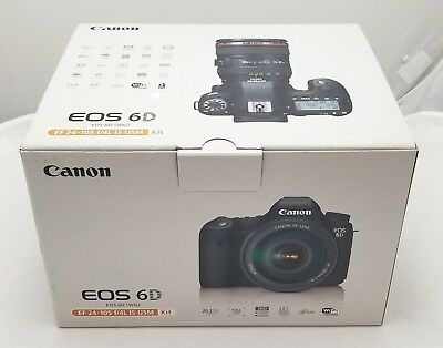 Canon Eos 6D 20.2Mp Dslr Camera With Ef 24-105Mm F/4L Is Usm Lens ~ Usa Model ~