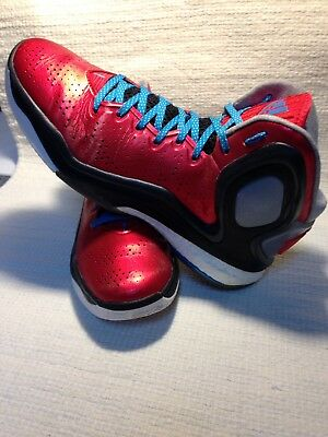 47036b65101c75 Men s Adidas D Rose 5 Boost HighTop Candy Apple Red Basketball Shoe SIZE 9.5