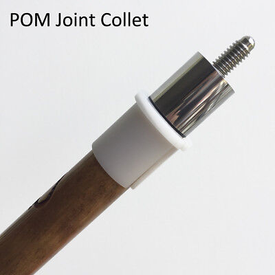 Pool Cue White POM Joint Collet Sleeve - Cue Building Tool Lathe Accessory