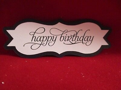 10  Happy Birthday Sentiment Label Die Cuts.........style 2..........cardmaking