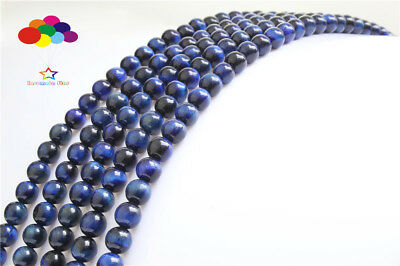 Dedicated Wholesale Free Shipping Natural Stone Blue Lapis Lazuli Tiger Eye Agates Round Loose Beads 1 Strand 6 8 10 Mm Pick Size Jewelry & Accessories