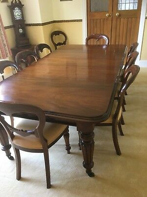 Victorian Wind Up Dining Table And 8 Chairs, Willing To Sell Separately