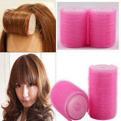 2pcs Plastic Barrel Bangs Hair Curlers Tools Easy To Make The Curly Hair Charm