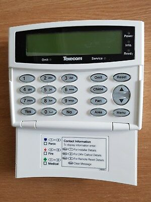 Texecom Premier remote  keypad with large LCD screen