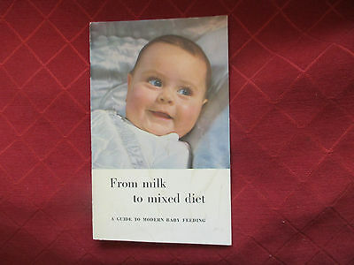 1950s baby book,from milk to a mixed diet.