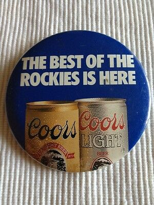 vintage coors and coors light Beer Promotional button Pin