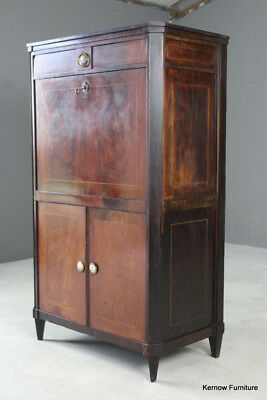 Antique French Secretaire Abattant Mahogany Bureau Writing Desk Cabinet