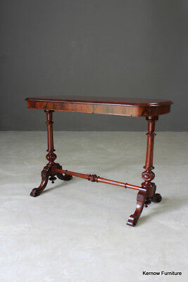 Reproduction Antique Style Rosewood & Walnut Occasional Side Console Hall Table