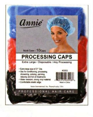 Annie Processing Caps Shower Color Oil Perm Extra Large Disposable #3553 Multi