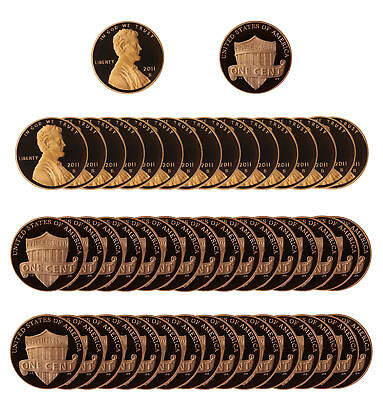 2011 Gem Proof Lincoln Cent Roll - 50 US Coins