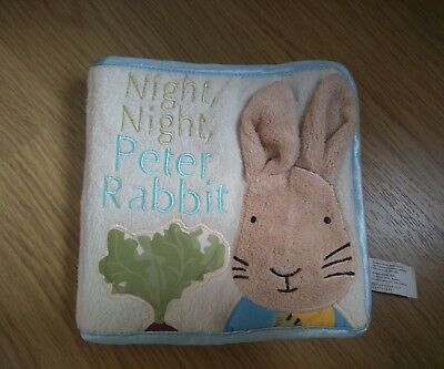 Baby book: night night peter rabbit fabric book with Crinkle pages