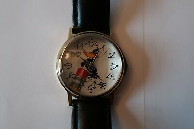 """FOSSIL Warner Bros. Looney Tunes Watch- Daffy Duck 9"""" Band - Excellent Condition"""