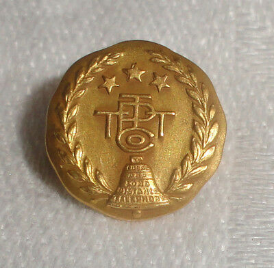 Vintage Solid 14k Pacific Telephone & Telegraph Co. Service Award Pin