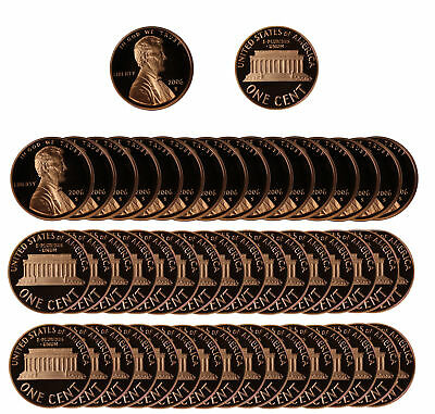 2006 Gem Proof Lincoln Cent Roll - 50 US Coins