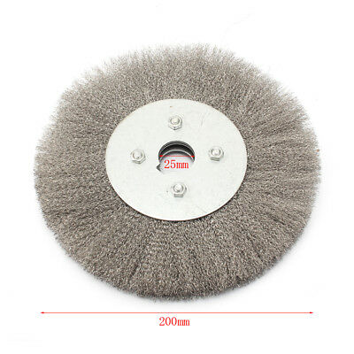 8'' Stainless Steel Wire Wheel Brush For Derusting Polishing Grinding Arbor 25mm