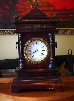 A Large And Impressive Mantle Clock