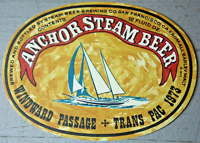'73-Dated Transpac Sailing Race Anchor Steam Beer Windward Passage Ragtime Boat
