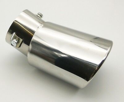 Universal Car Rear Stainless Steel Round Exhaust Muffler Tail Pipe Trim Tip End