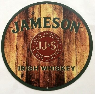 "Jameson Irish Whiskey 14"" Diameter Aluminum Sign"