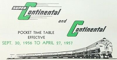 1956-57 Canadian National Railways Pocket Time Table Super Continental Rockies