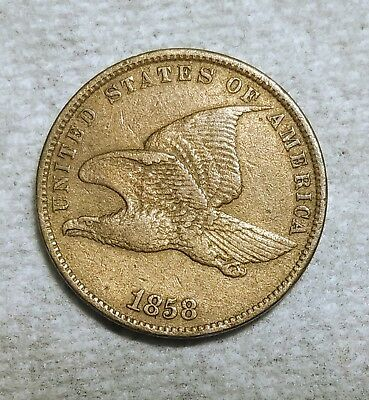 Choice Extra Fine 1858 SM Letters Flying Eagle Cent! Razor-sharp piece!