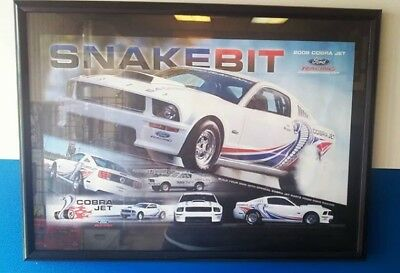 Collectible Snake Bit 2008 Cobra Jet Mustang Poster (Double Sided SPECs ON BACK)