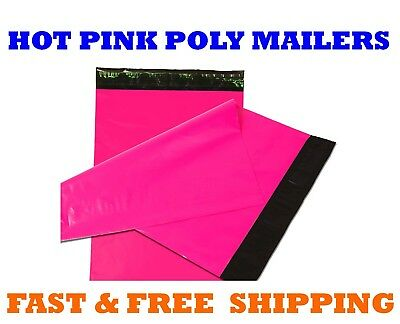 """12x15.5 HOT PINK POLY MAILERS Shipping Envelopes Sealing Mailing Bags 12"""" x 15"""""""