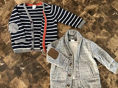 H & M 6-9 Months, Cardigan And Soft Coat baby boy