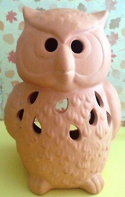 PartyLite Terracotta OWL Candle Holder