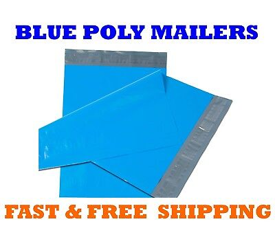 """10x13 BLUE POLY MAILERS Shipping Envelopes Self Sealing Mailing Bags 10"""" x 13"""""""
