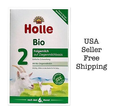 Holle Organic Goat Milk Formula Stage 2 400g FREE SHIPPING 07/2019,6boxes