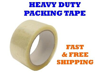 """1-108 Rolls Clear Packing Packaging Carton Box Tape 1.8mil 2"""" x 55 yards 165 ft"""