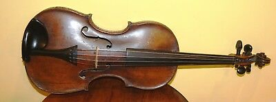 Beautiful Fine Antique 4/4 Unmarked Violin Solid Condition