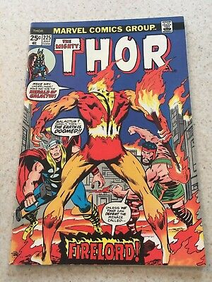 The Mighty Thor  225  VF  8.0   1st Firelord  Destroyer  Hercules  Infinity War