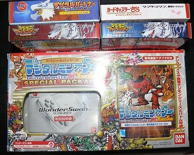 Wonderswan Digimon Limited Edition Box + Game Boxes with Manuals