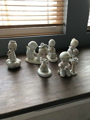 Precious Moments Lot Of 6 Figurines 1970-90s