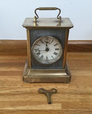 Antique Junghans Musical Mantle/carriage Alarm Clock WORKING