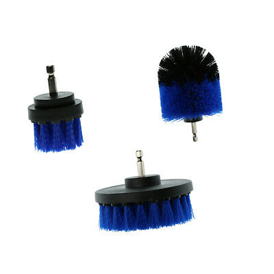 3Pcs Tile Grout Power Scrubber Cleaning Drill Brush Tub Cleaner Combo Blue