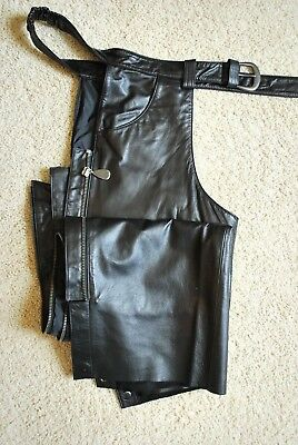 Pair of Ladies Harley Davidson Leather Chaps